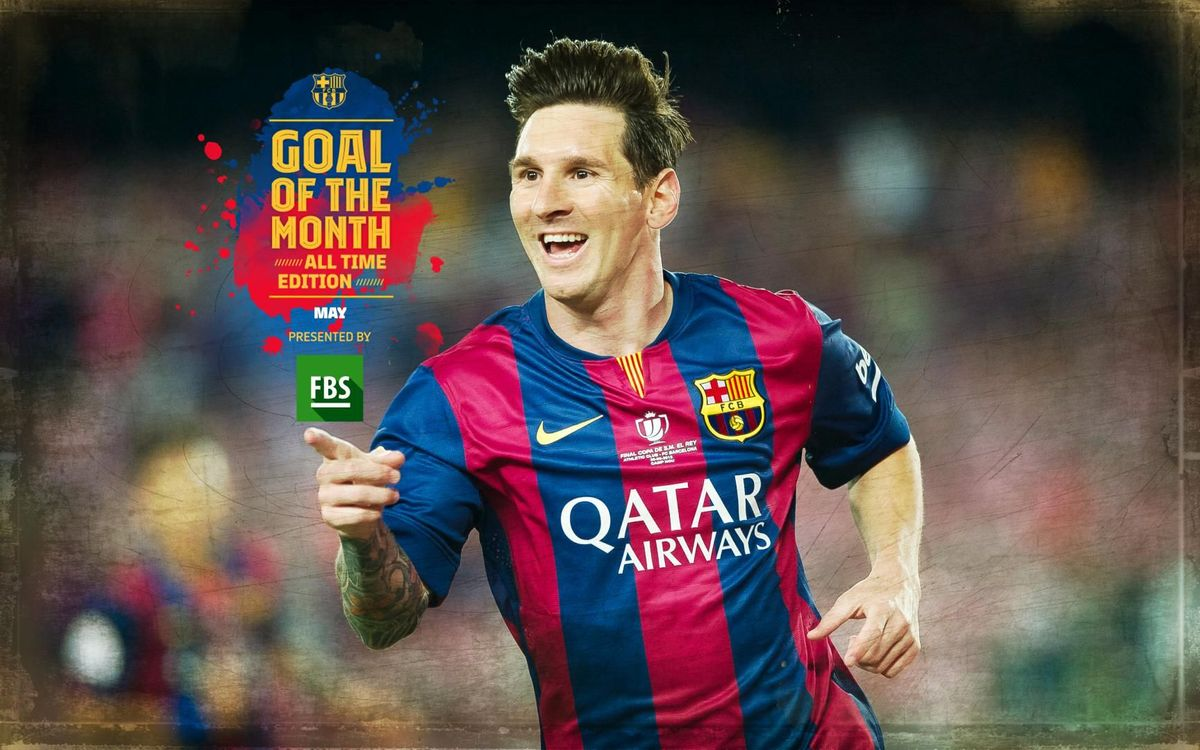 Leo Messi's Copa del Rey Final goal against Athletic Club voted all-time 'Goal of the Month' in May