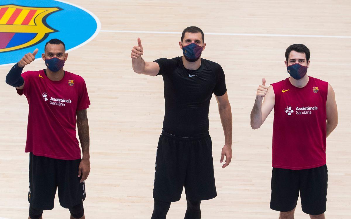 Els jugadors de bàsquet ja tenen les mascaretes del Barça