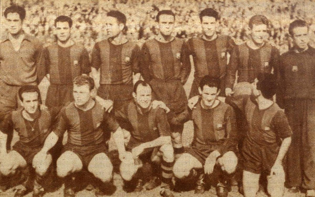Kubala ra mắt chính thức vào 29/4/1951 trong trận gặp Sevilla ở Copa del Rey