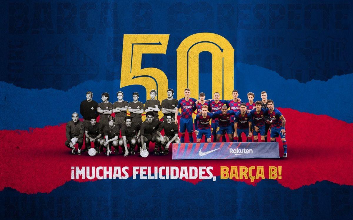 El Barça B cumple 50 años