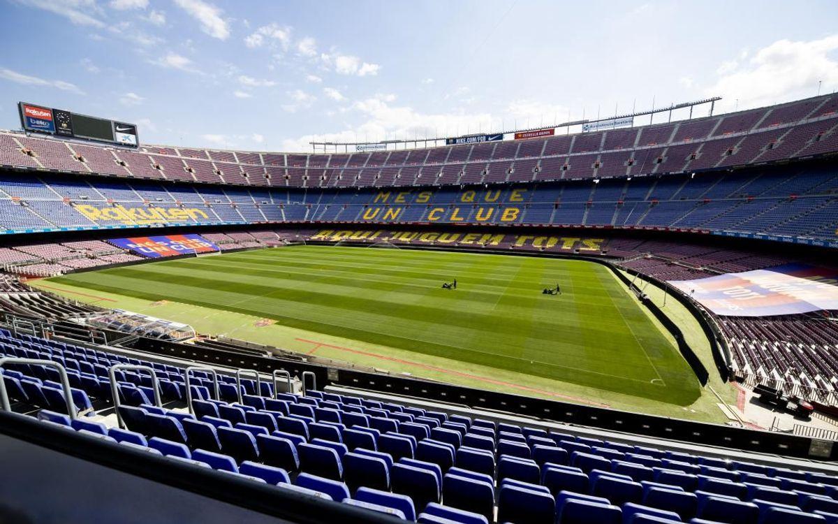 Així lluirà el Camp Nou aquest dimarts.