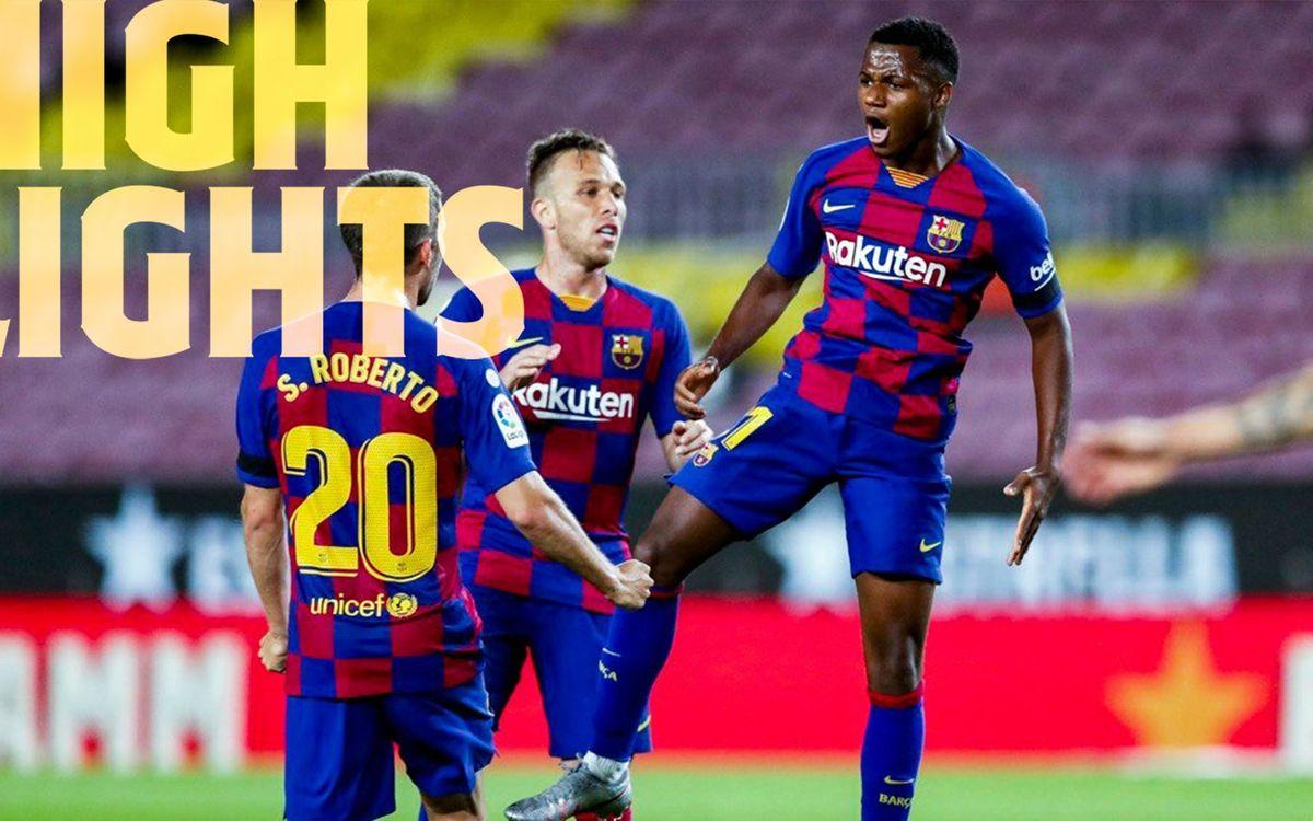 Les moments forts de Barça - Leganés (2-0)