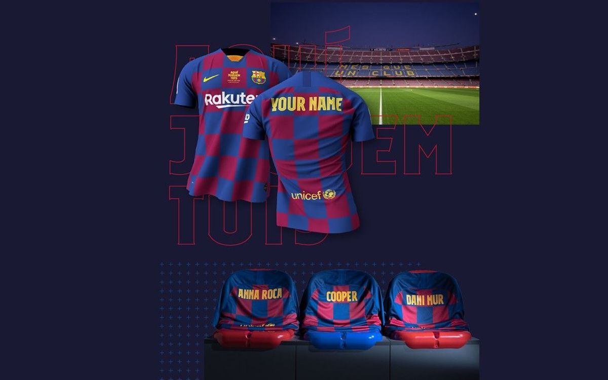 Fans around the world can support Barça at Camp Nou during the Atletico de Madrid match with personalised jerseys