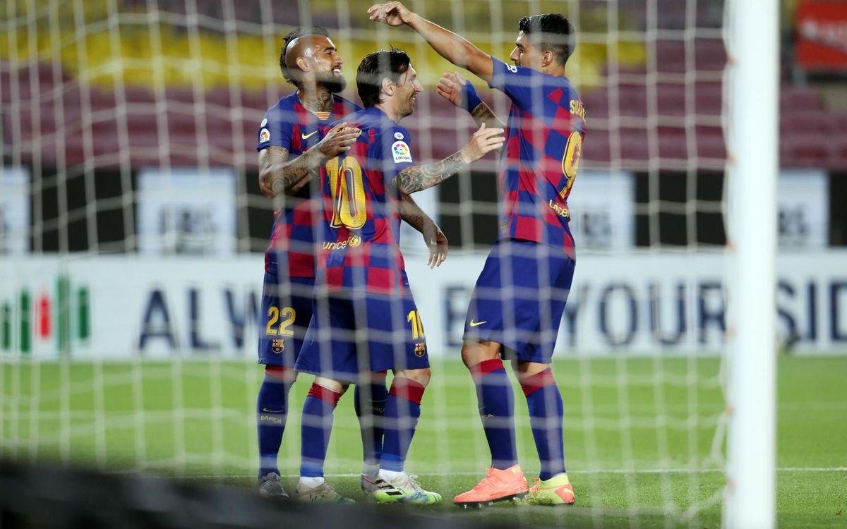 Barça-Leganés: El líder no afloja en su regreso al Camp Nou (2-0)