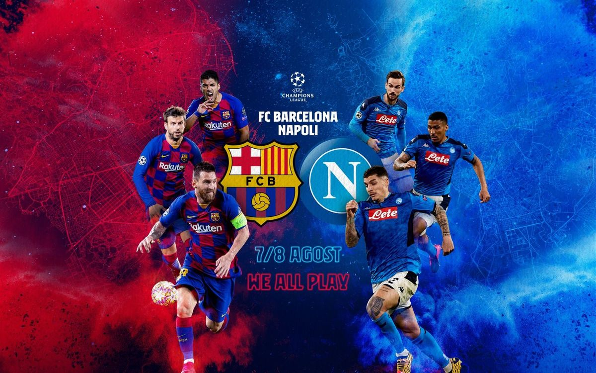 Barça v Napoli to be played on 7 or 8 August