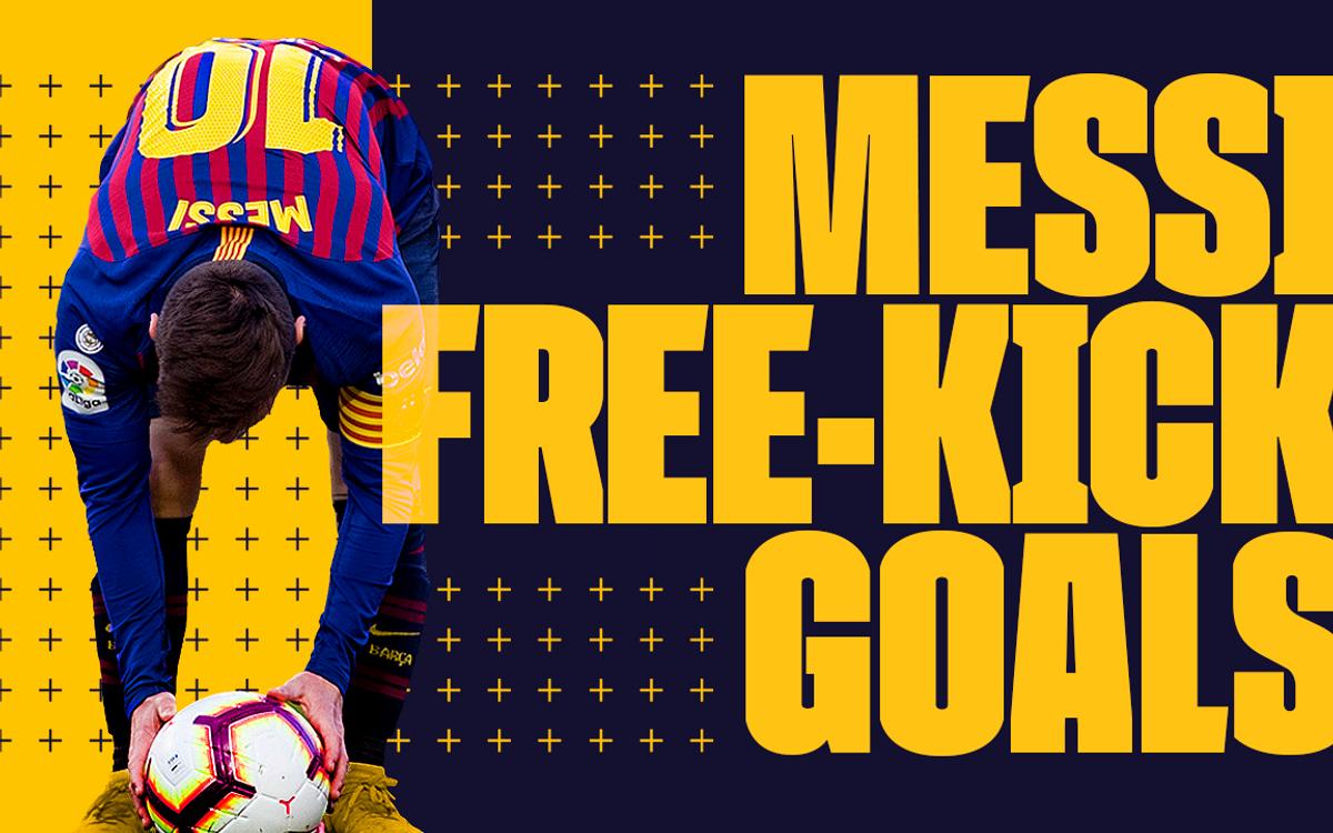 Les 50 coups francs de Messi