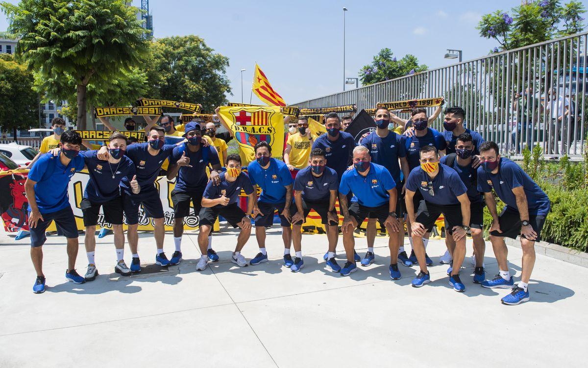 Els Dracs fan costat a l'equip abans de marxar cap a Màlaga