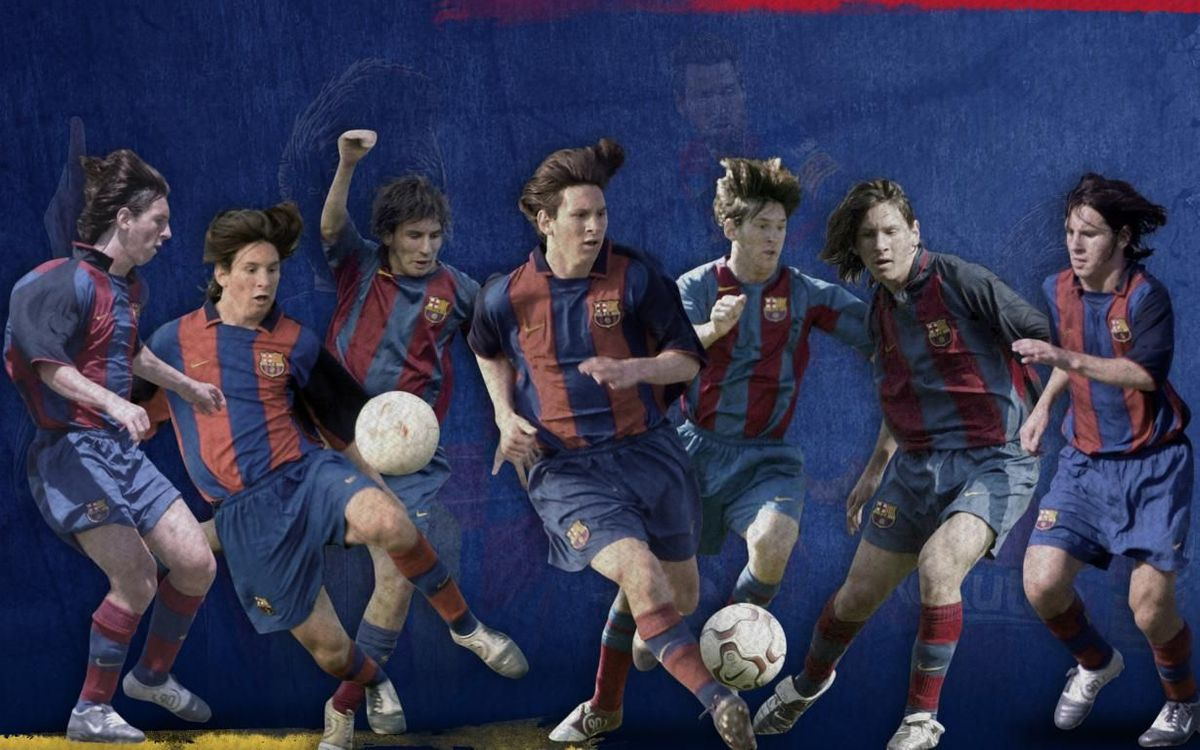All time stats for Messi in the Barça youth teams