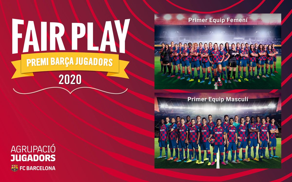 La Agrupación concede el Premio Barça Jugadores a los primeros equipos de fútbol del FC Barcelona