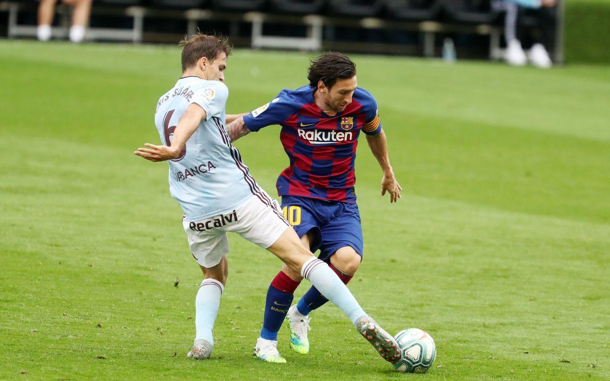 Celta - Barça: Reparto de puntos en Balaídos (2-2)