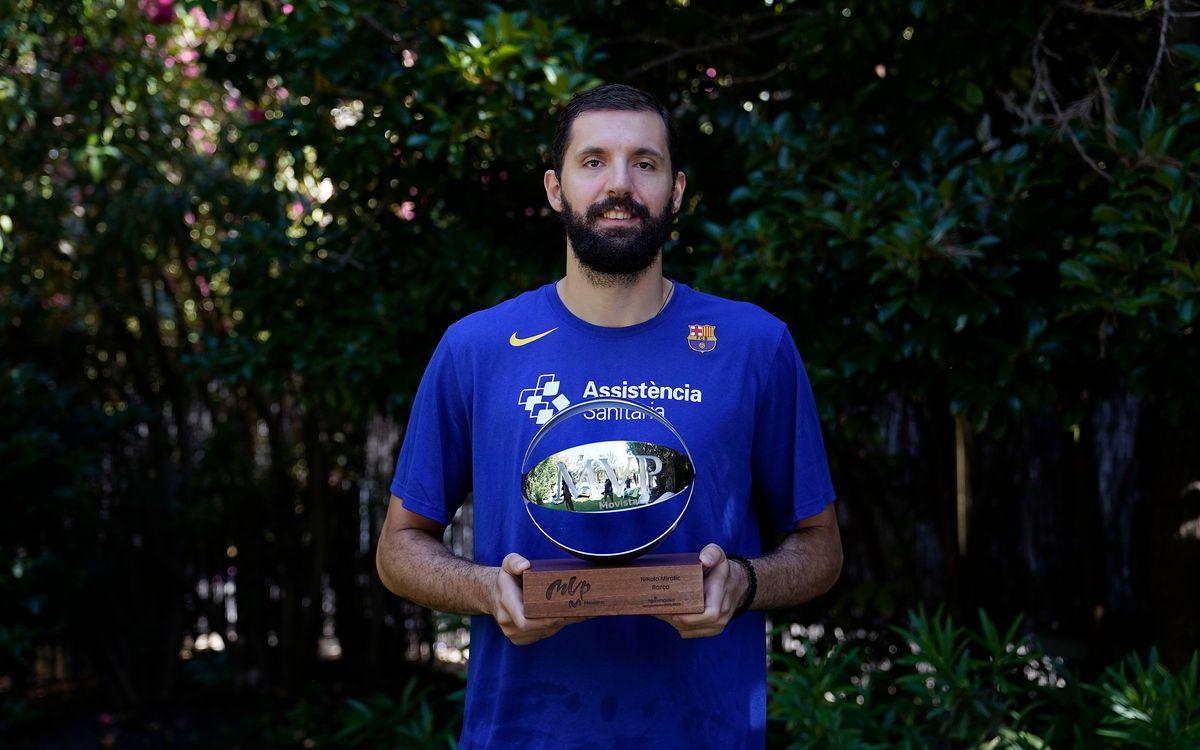 """Nikola Mirotic: """"Dedico l'MVP a l'equip i a la gent del Palau"""""""