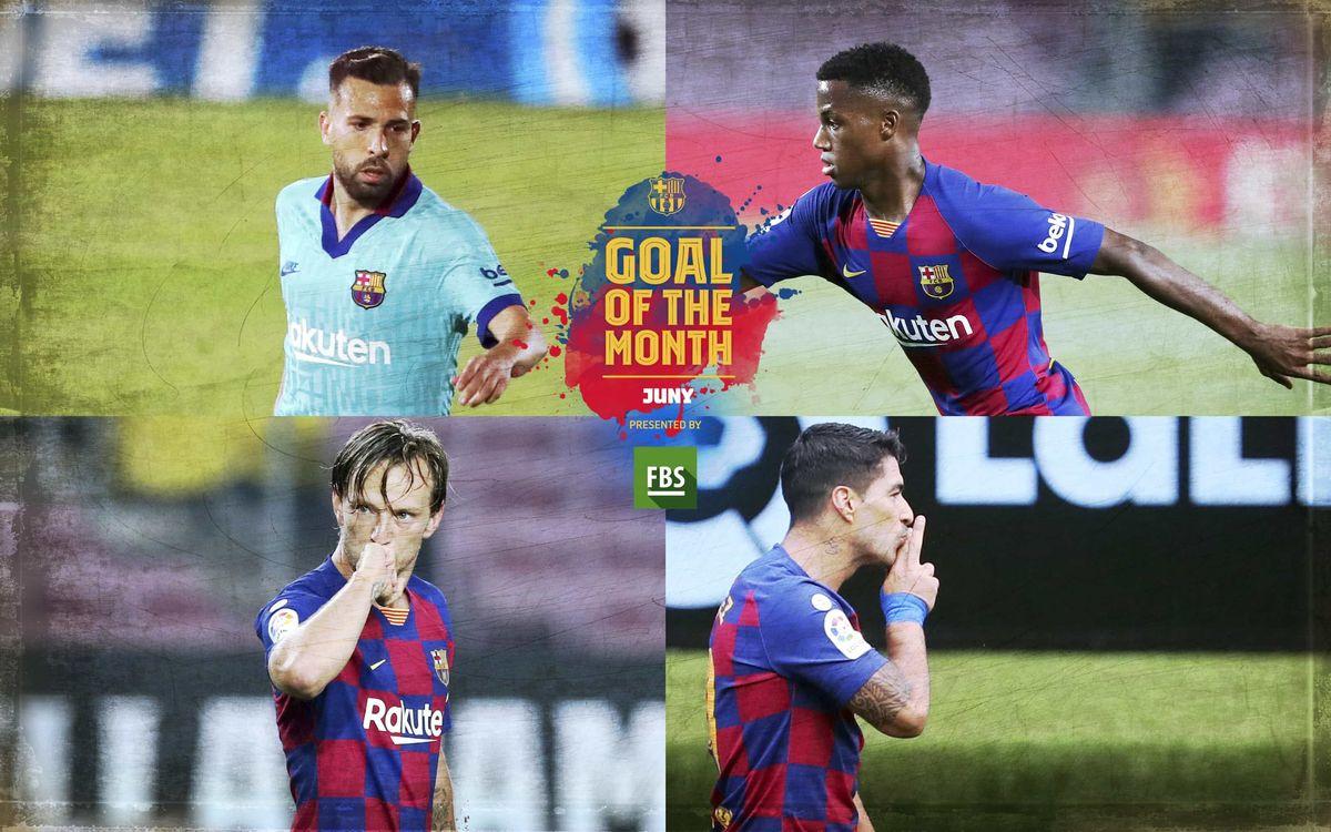 Vota el 'Goal of the Month' del mes de juny