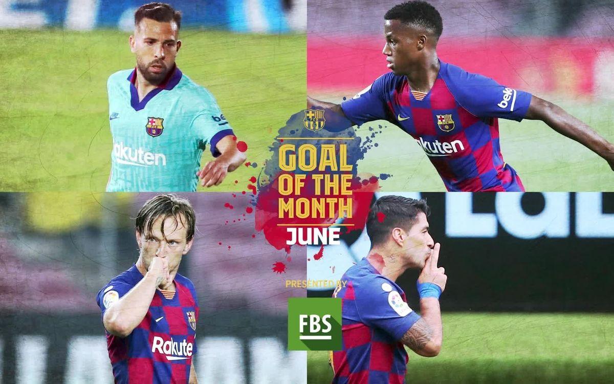 Élisez le plus beau but du mois de juin 2020 du Barça