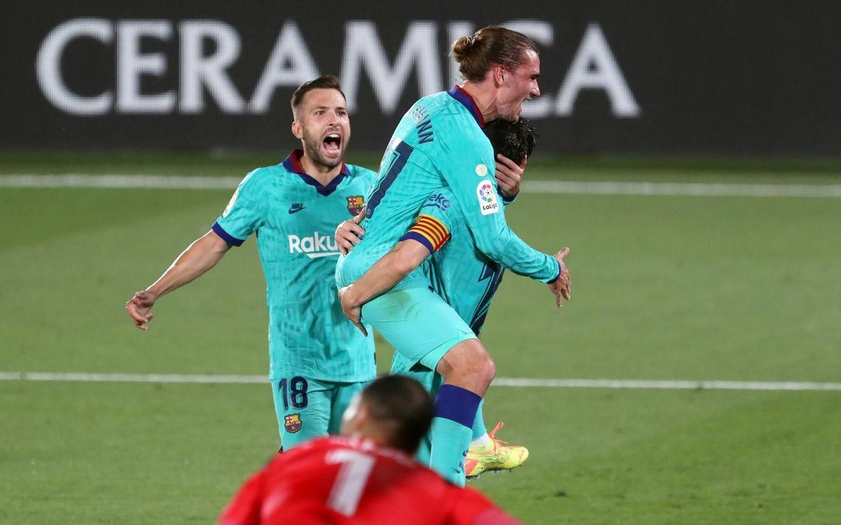 Villarreal - Barça: Goleada para seguir luchando la Liga (1-4)