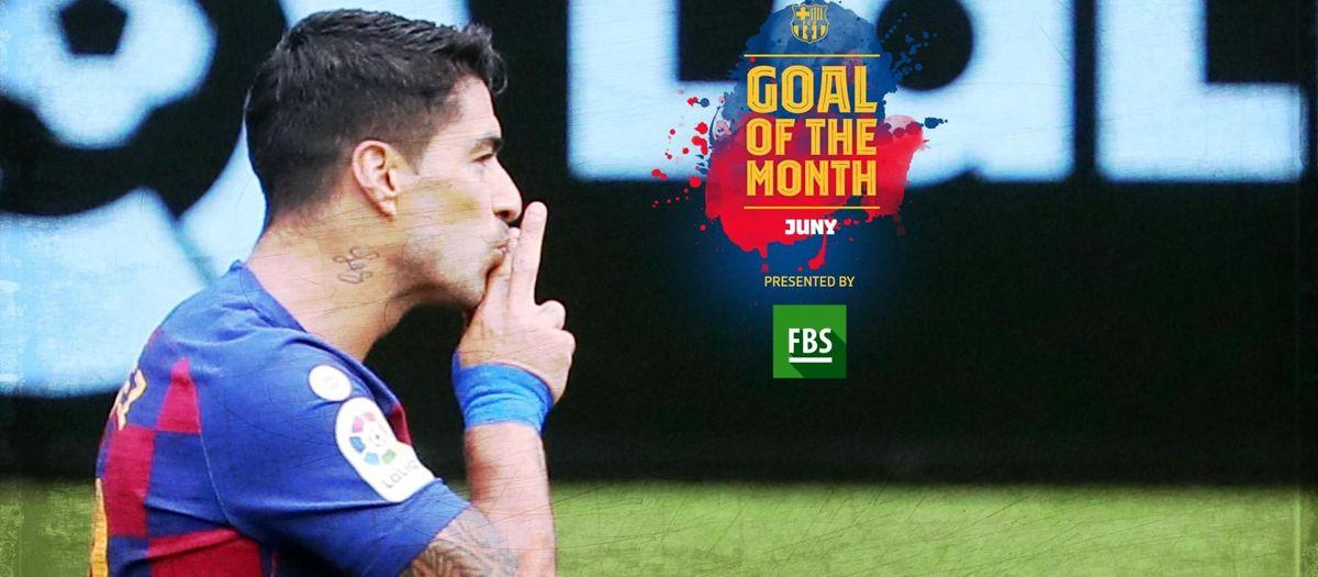 El primer gol de Suárez contra el Celta, escollit 'Goal of the Month' del juny