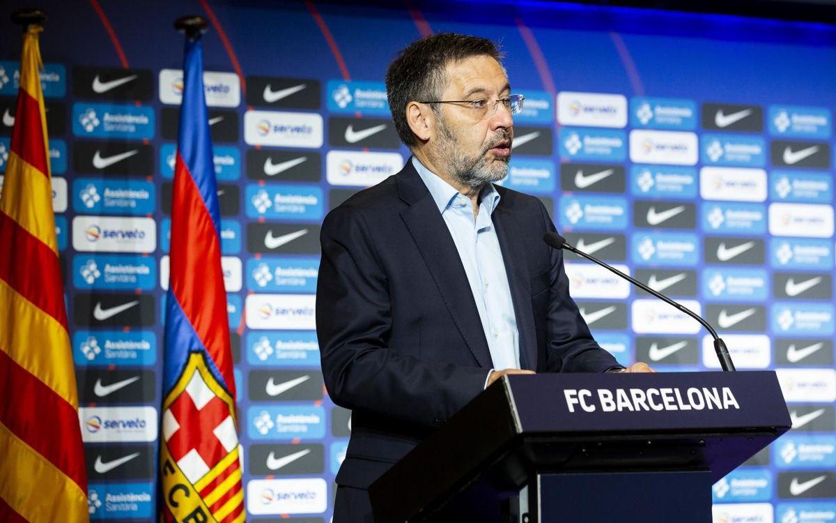 """Josep Maria Bartomeu: """"Sempre som favorits a la Champions"""""""