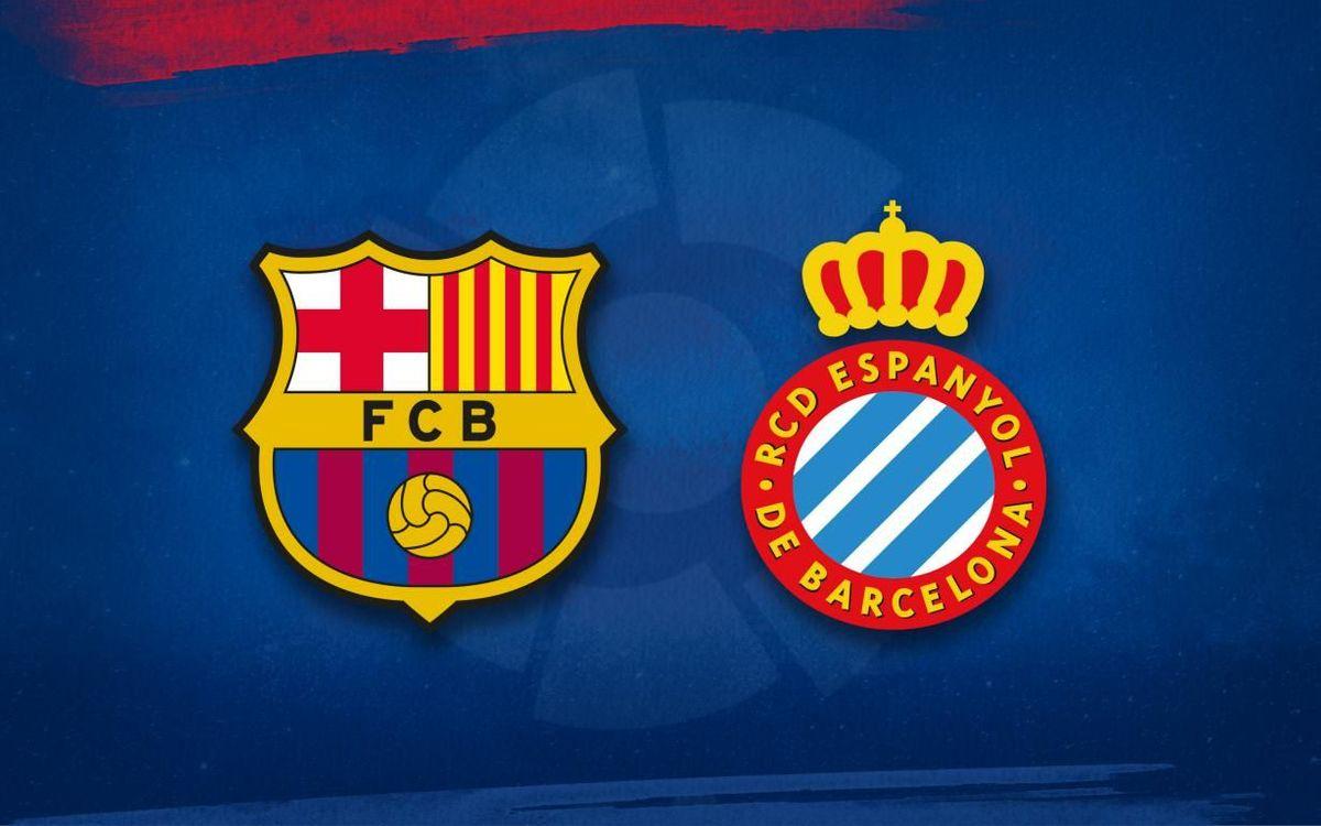 Barça lineup for Espanyol game