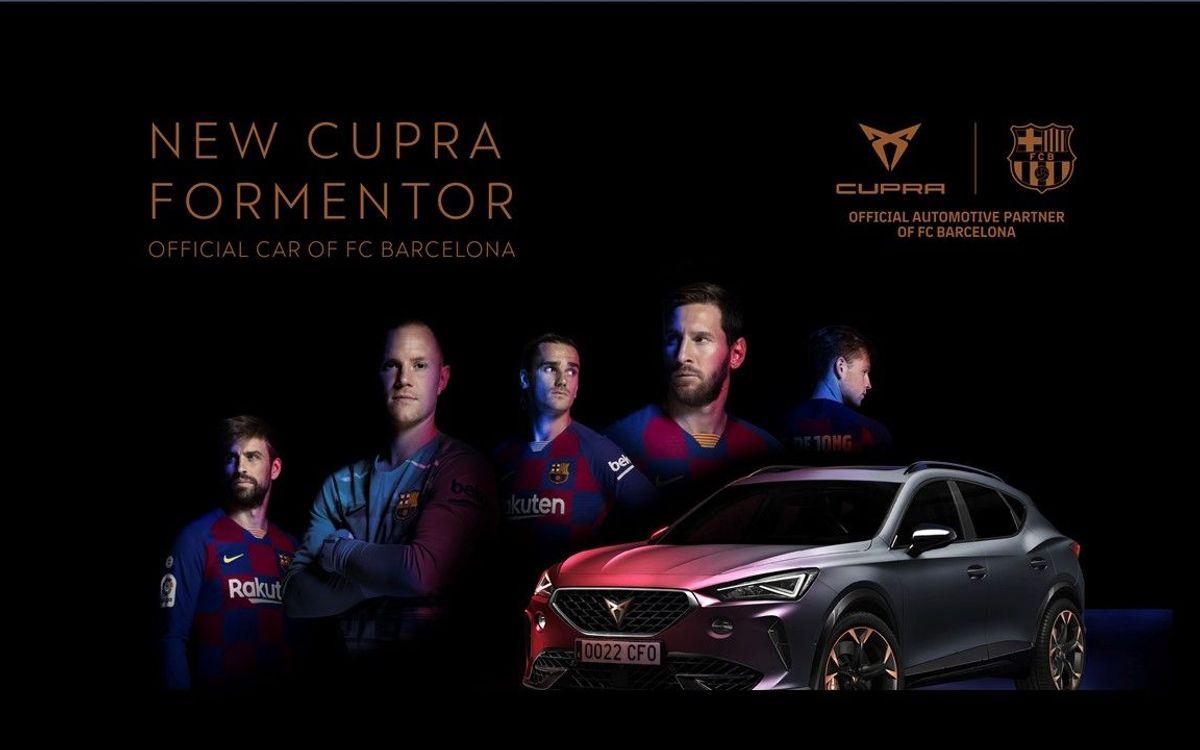 El CUPRA Formentor, designado coche oficial del Barça