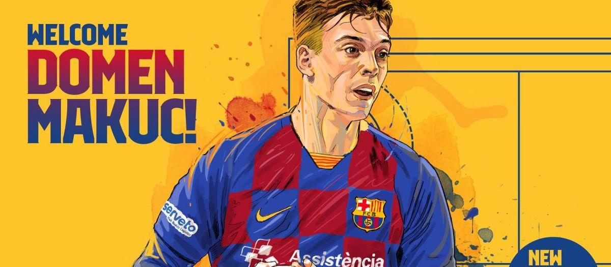 Domen Makuc, un central de futur per al Barça