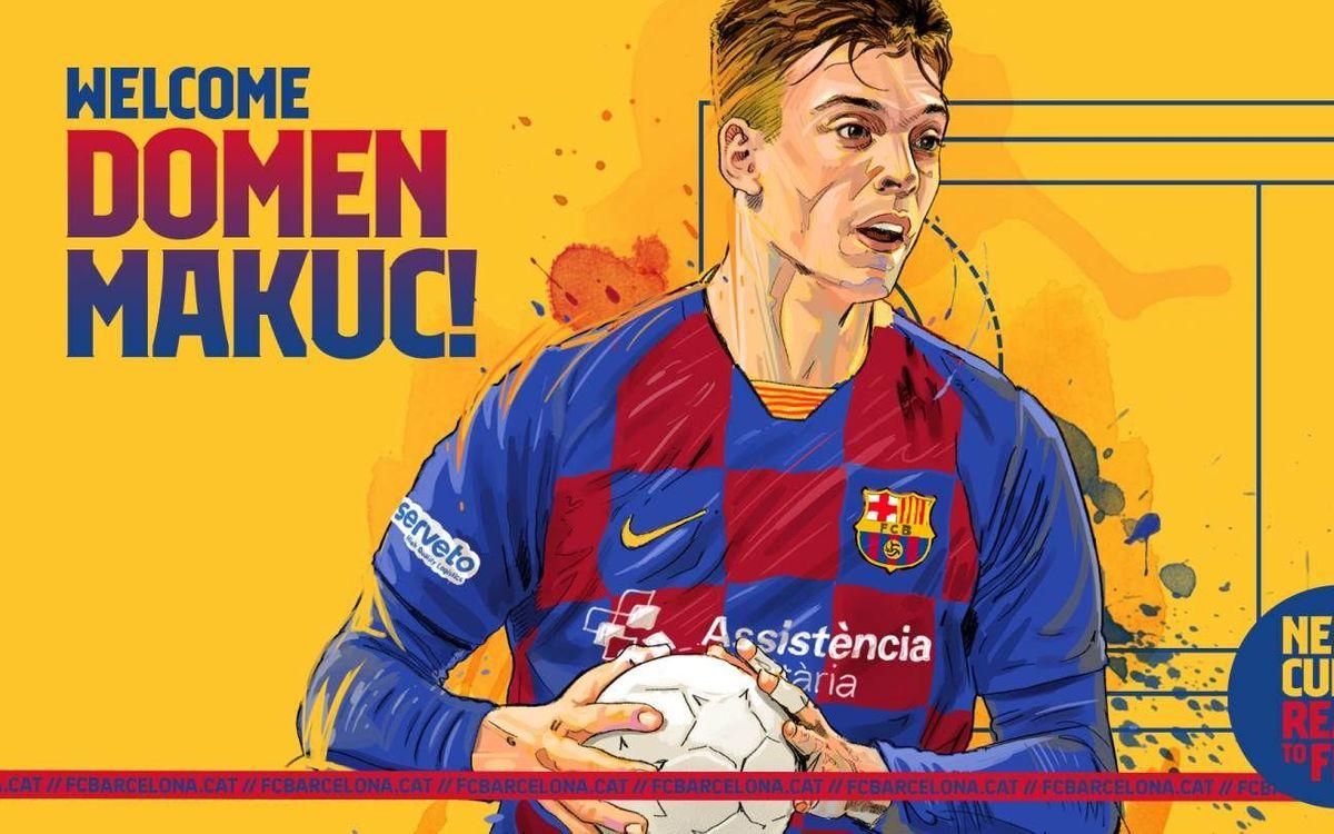 Domen Makuc, un central de futuro para el Barça