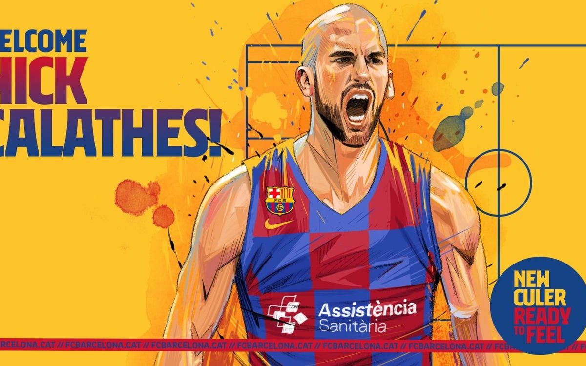 Agreement with Nick Calathes to join Barça through to 2023