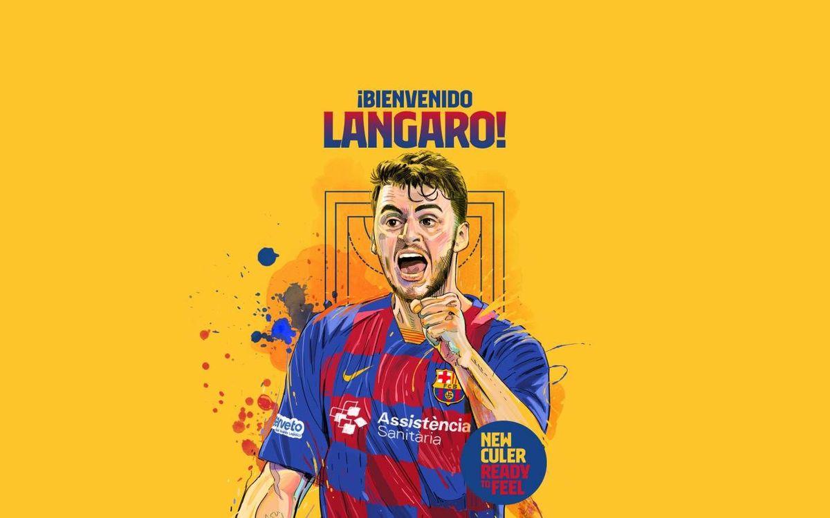 Haniel Langaro, nuevo jugador del Barça