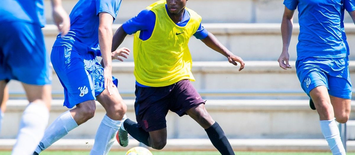 Barça B play training game against Europa before Playoffs