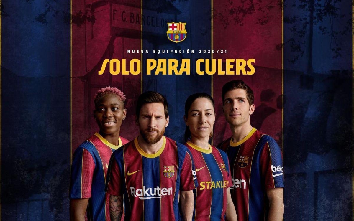 El FC Barcelona presenta oficialmente su camiseta 20/21
