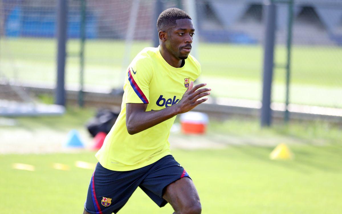 Dembélé segueix amb el seu procés de recuperació