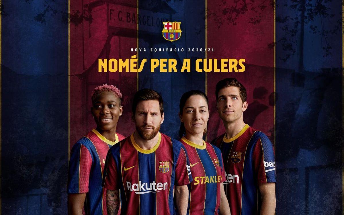 El FC Barcelona presenta oficialment la seva samarreta 20/21