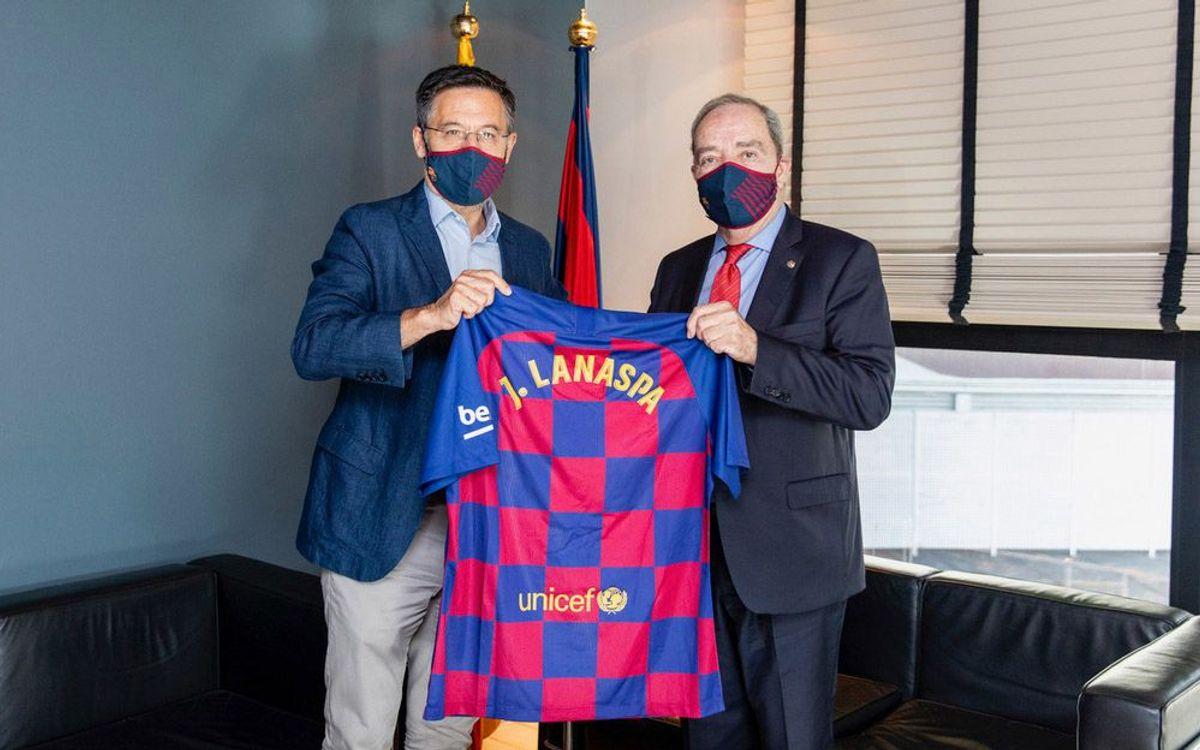 Primera trobada del President del FC Barcelona amb el nou President d'Unicef Catalunya