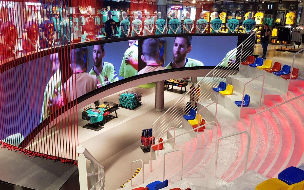Mejoras en la Barça Store del Camp Nou para ofrecer una visita más cómoda y atractiva