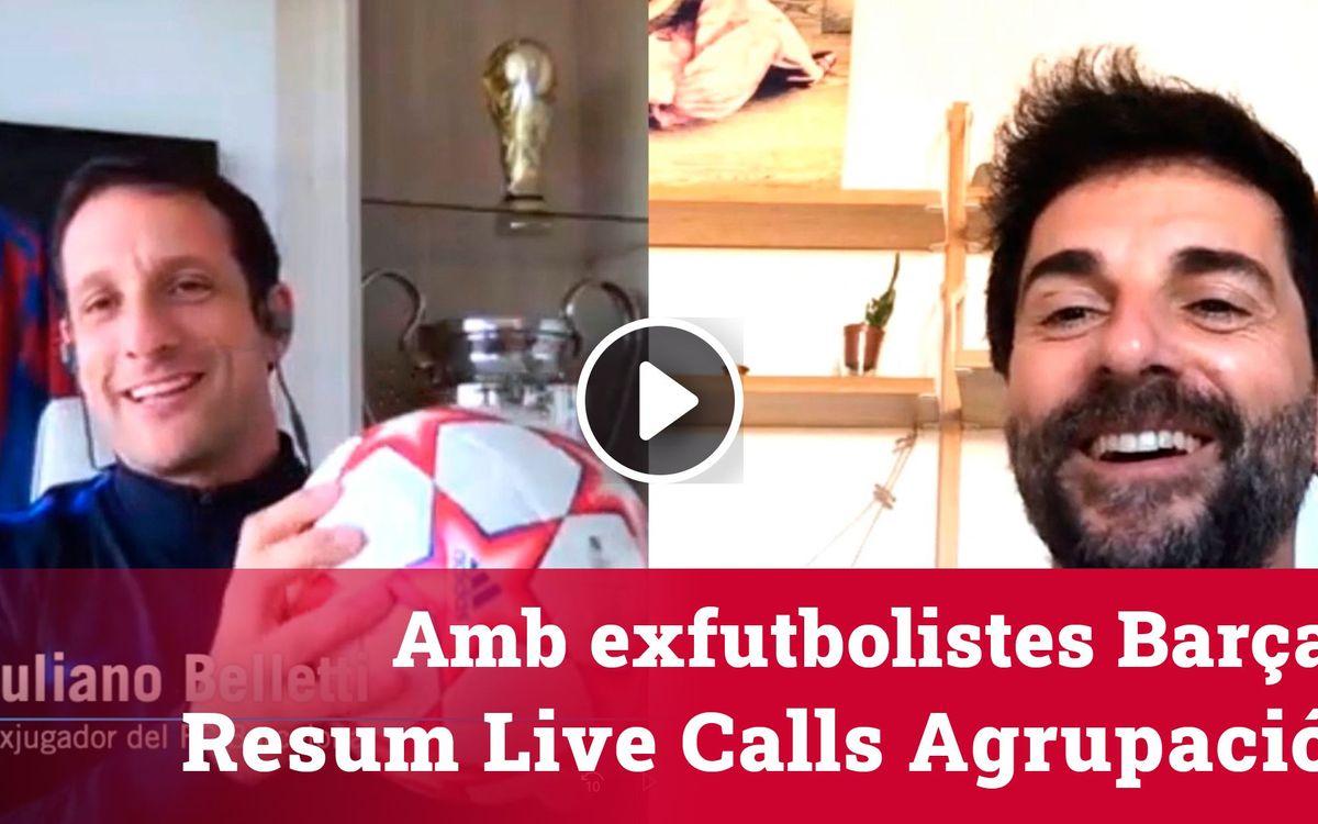 Converses setmanals amb exfutbolistes del Barça