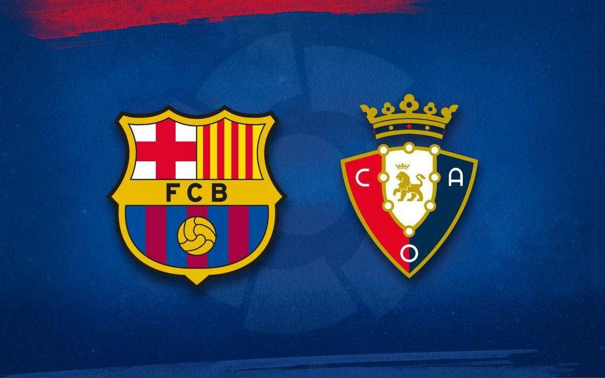 Barça lineup for Osasuna game