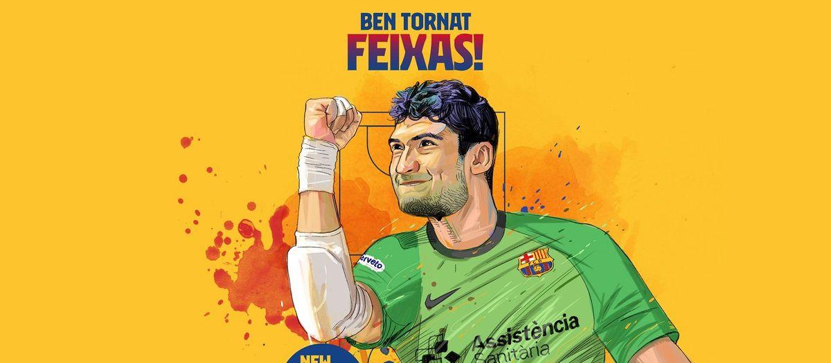 El Barça fitxa Miquel Feixas fins al 2024