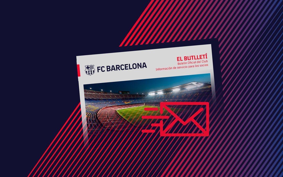 El Butlletí nace como una nueva herramienta de comunicación corporativa y de servicio entre el Club y todos los socios