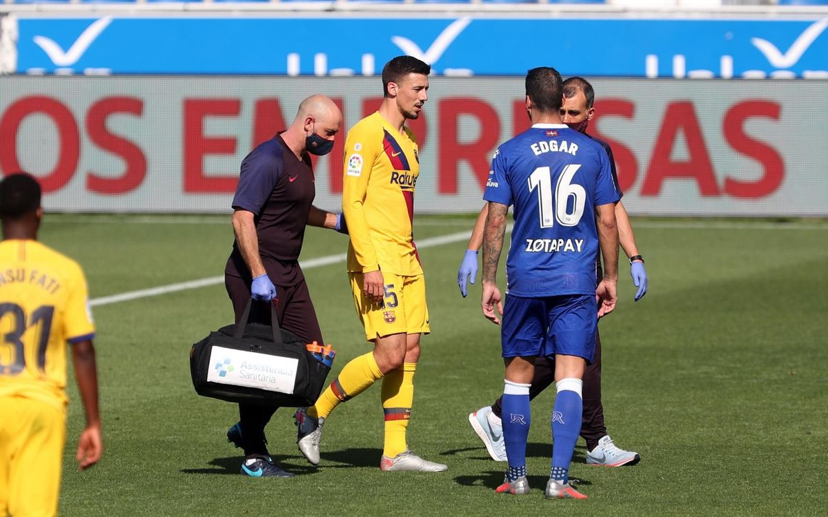 Lenglet has discomfort in the right groin