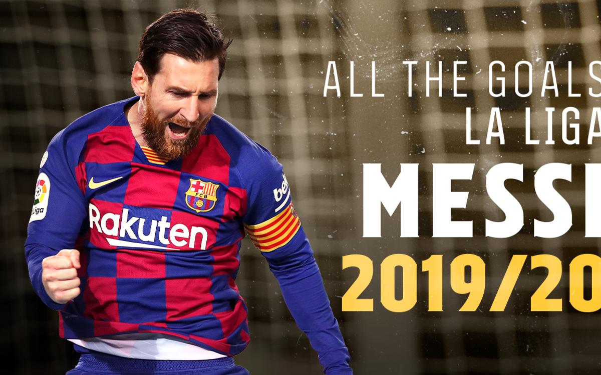 Tous les buts du Pichichi 2019/20, Messi