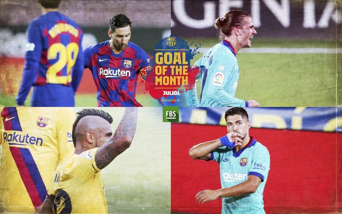 Vota el 'Goal of the Month' del mes de juliol