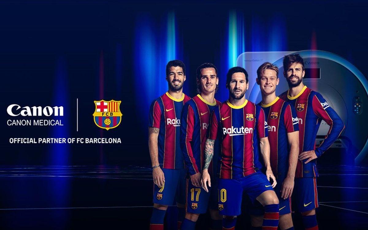 FC バルセロナとキャノンメディカルシステムズ、5年間のスポンサー契約を延長