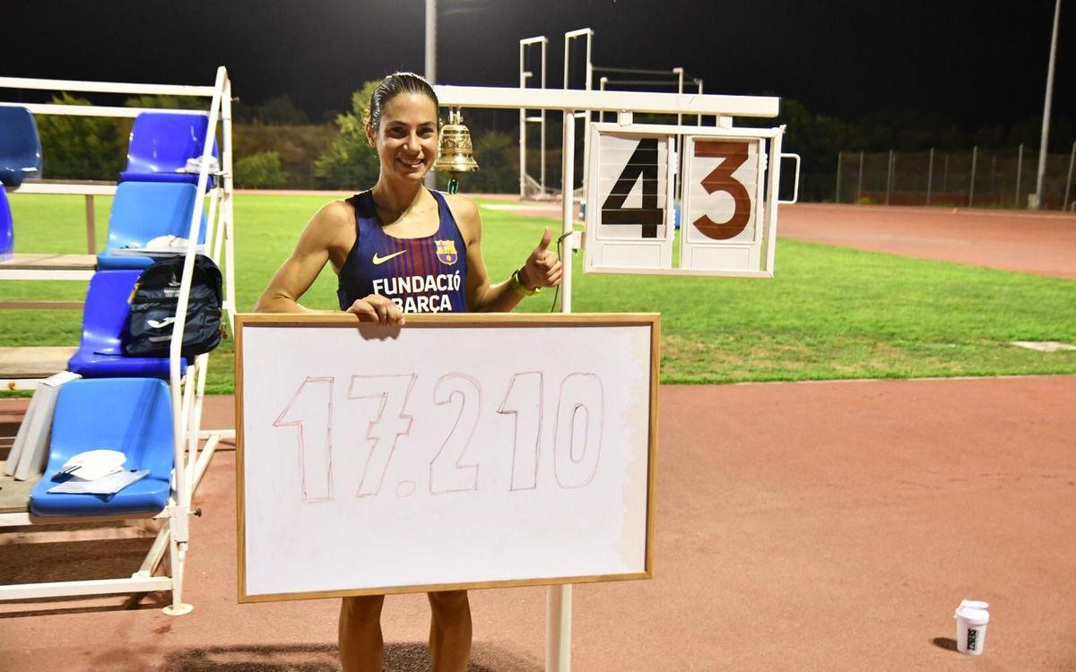 Marta Galimany, nuevo récord de España de la hora en pista