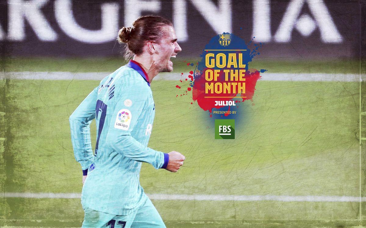 El gol de Griezmann contra el Vila-real, escollit 'Goal of the Month' del juliol