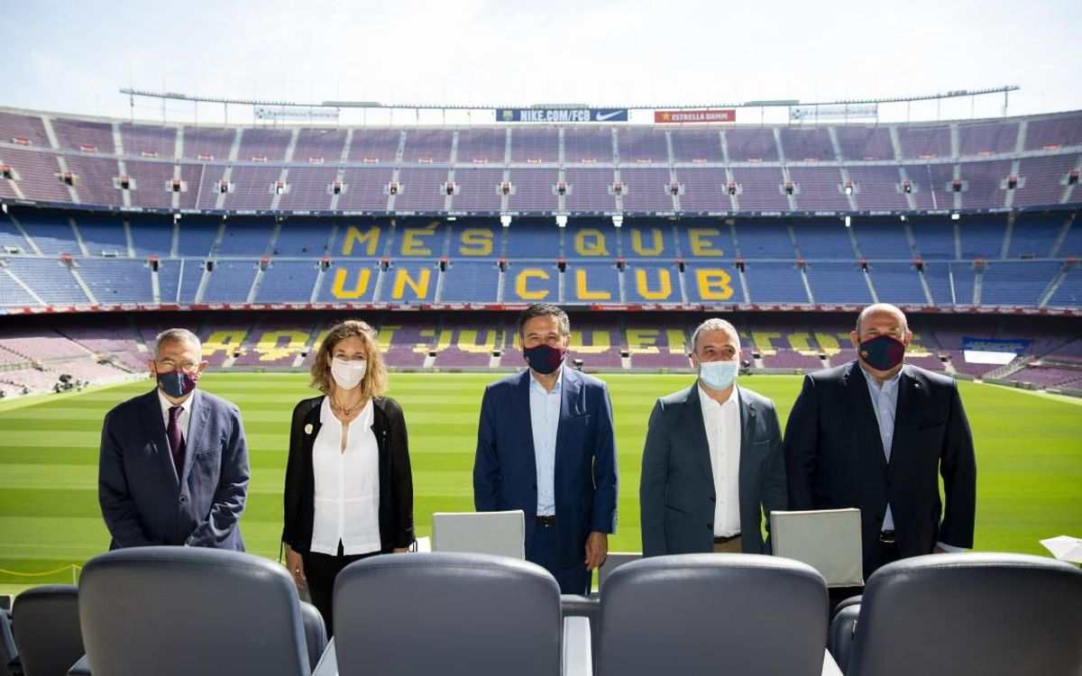 El Barça, la Generalitat i l'Ajuntament acorden unir esforços per la promoció internacional de Barcelona i Catalunya