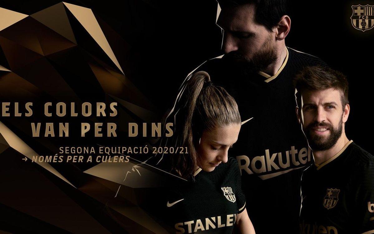 El Barça aposta pel negre i el daurat en la seva segona equipació