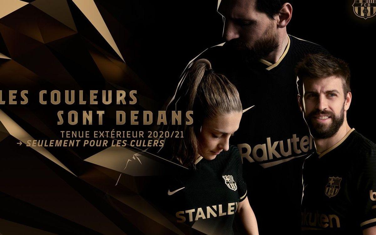 Le maillot extérieur 2020-21 du Barça sera noir et doré
