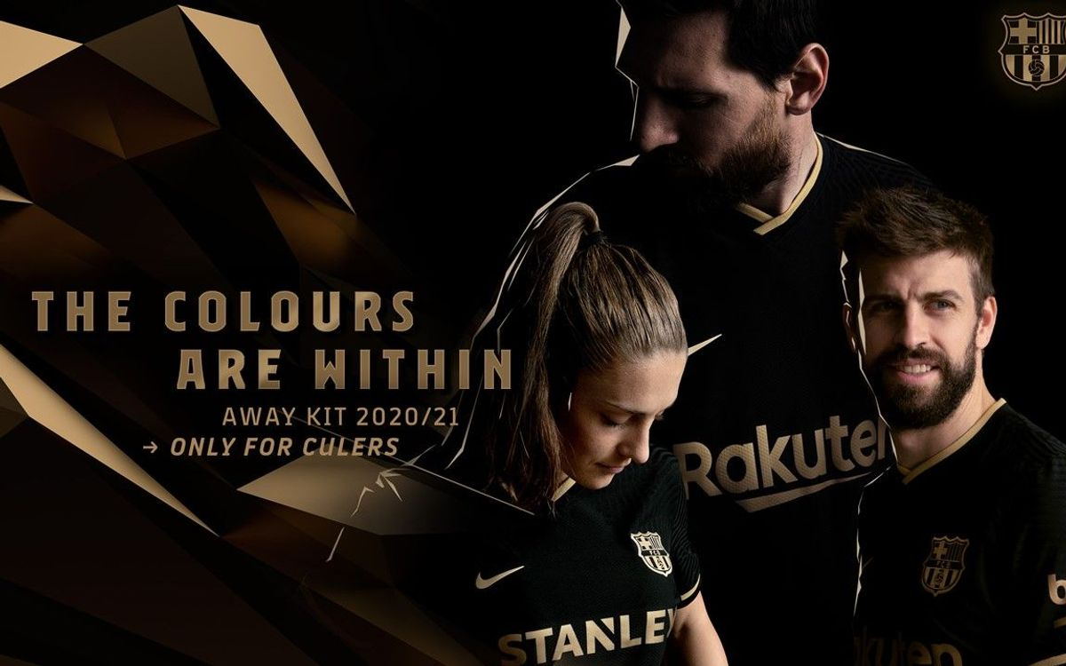 Barça unveil black and gold away kit