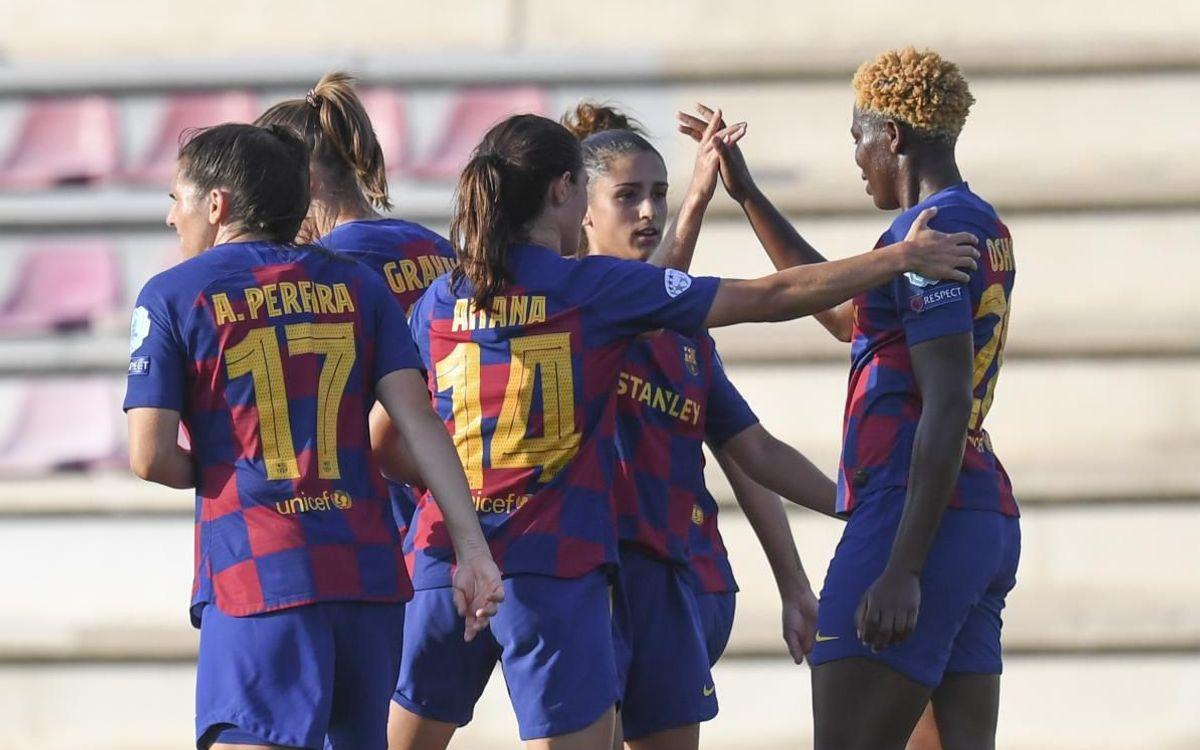 Femení – Montpellier: Gran triomf al primer amistós (3-0)