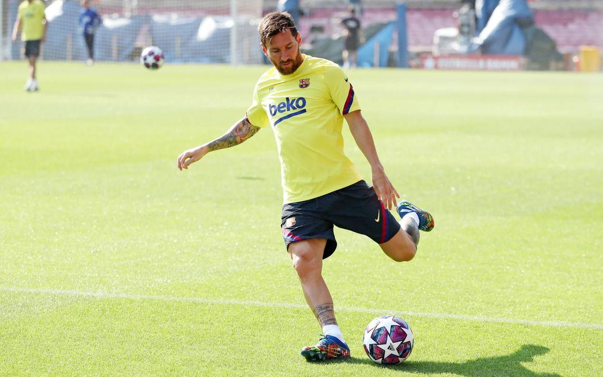 Séance d'entraînement au Camp Nou
