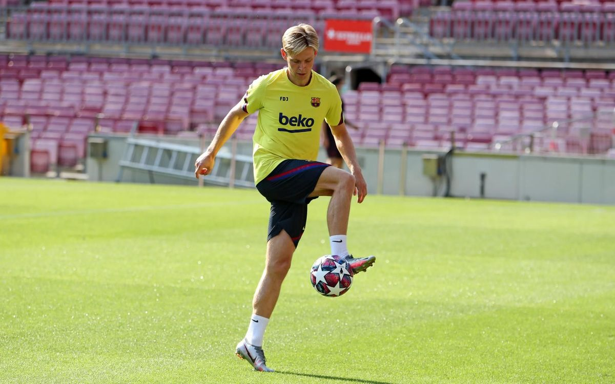 Training at Camp Nou