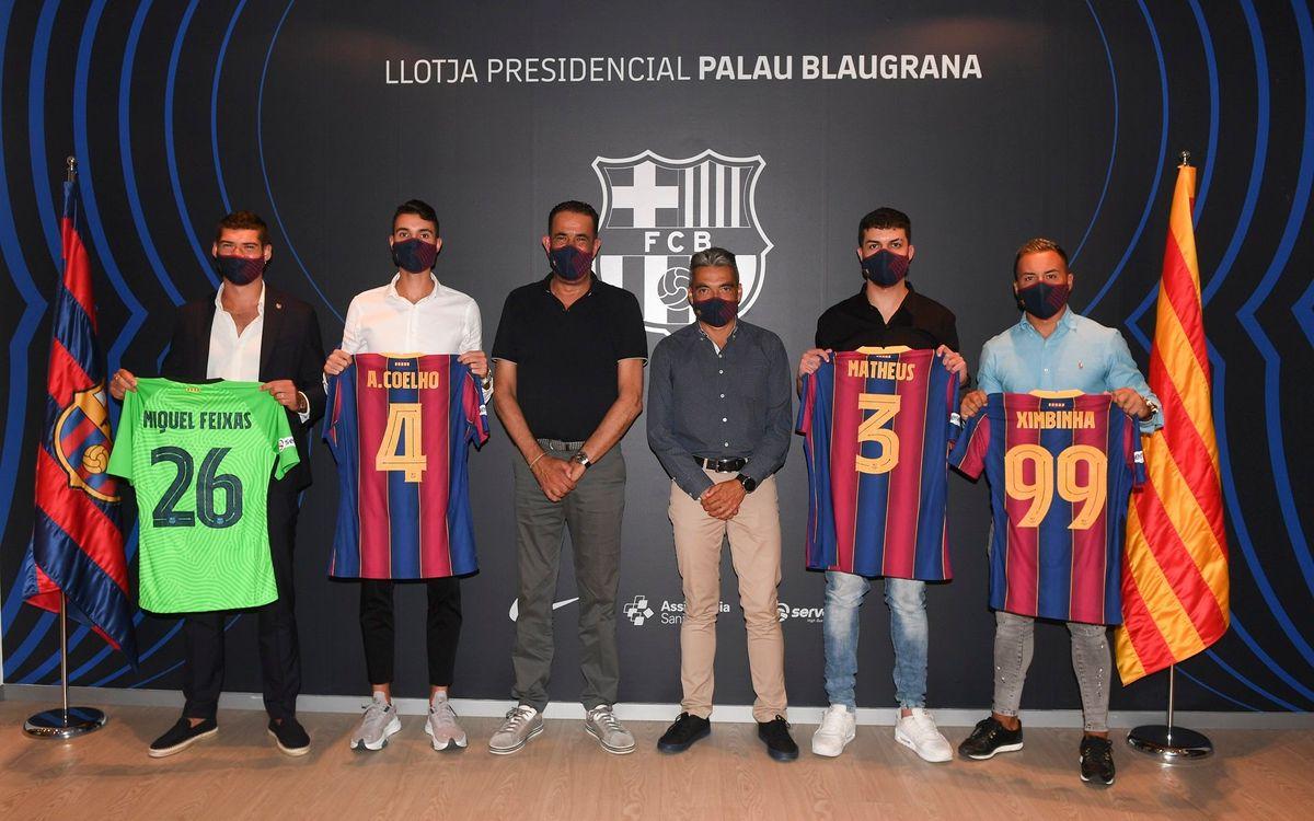 El Club presenta cuatro fichajes para aspirar a todo